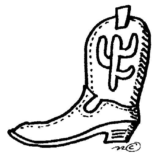 Cowboy boot border clipart