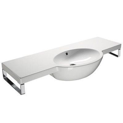 Curved Bathroom Sink : ... Design Curved Wall Mounted Bathroom Sink - GSI 665211 Wayfair