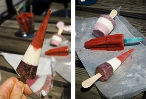 Red, White, and Blueberry Pops | Food - Cooking - Freezer | Pinterest