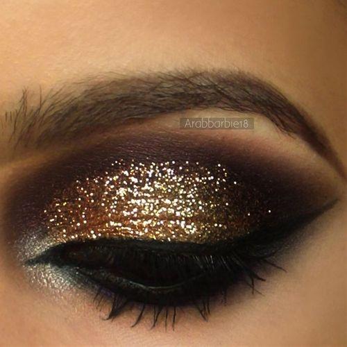 Gold Glitter with Deep Purple