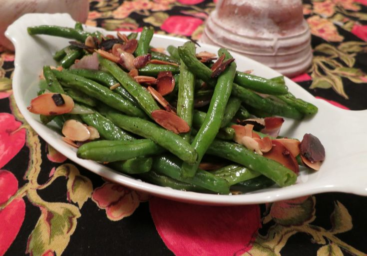 Garlic-Roasted Green Beans With Shallots And Almonds ...