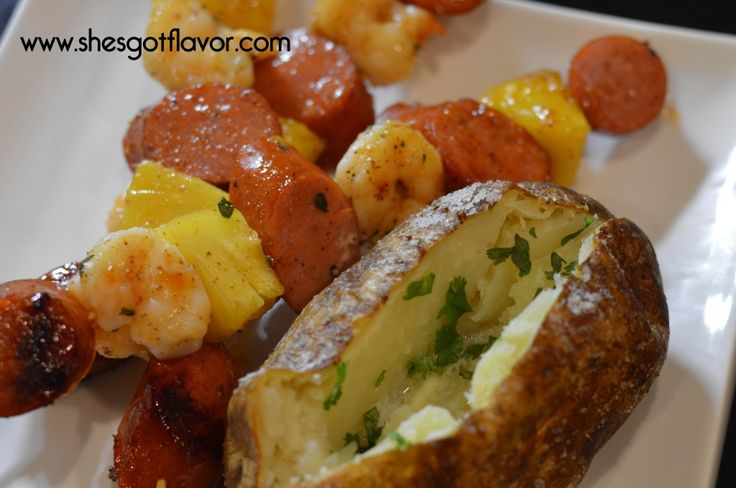 Shrimp and Andouille Sausage Kabobs with Apricot Grand Marnier Glaze ...