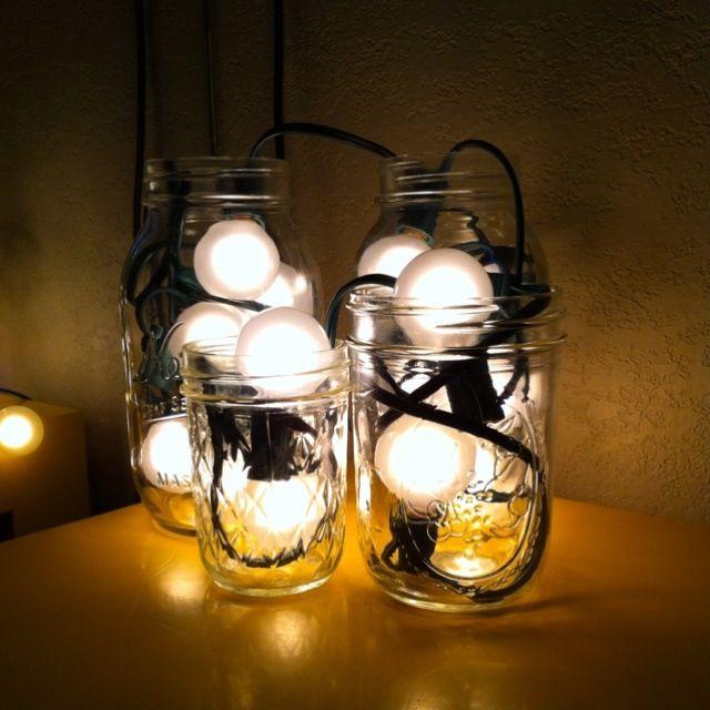 mason jar christmas lights car interior design. Black Bedroom Furniture Sets. Home Design Ideas