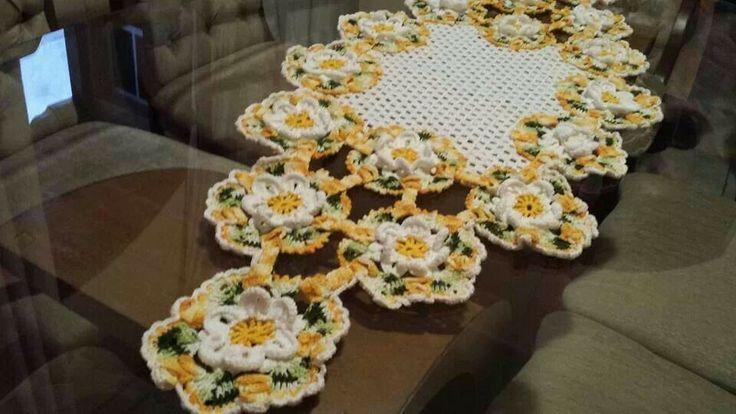 Caminho de mesa | Croché | Pinterest