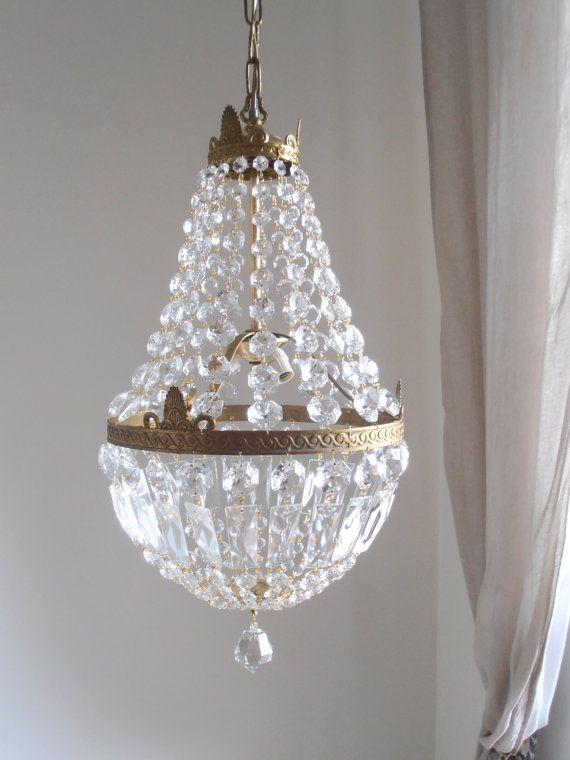 lampadario goccia : Statement big golden bronze empire style 3 lights by LorellaDia, $690 ...
