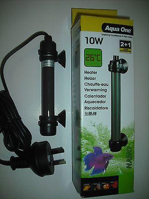 Aqua one 10w nano heater for small fish tanks betta for Do betta fish need a heater