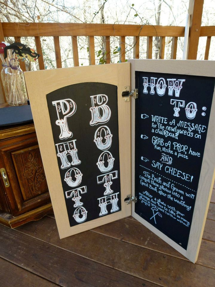 Diy wedding photobooth everything about marriage fold open photo booth chalkboard perfect for diy wedding solutioingenieria Images