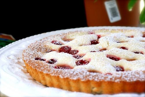 Raspberry Creme Fraiche Tart. | Pies + Tarts | Pinterest