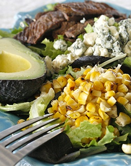 Grilled Corn and Carne Asada Salad | Mexican Food & almost Mexican ...