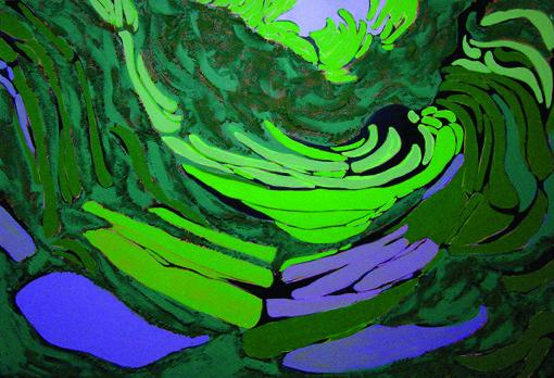 DZIERŻ EDYTA NADZIEJA,olej, akryl na płótnie , tech.własna, 100x150 cm.