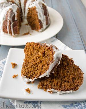 Recipes-Gingerbread Bundt Cake with Butterscotch Liqueur Glaze