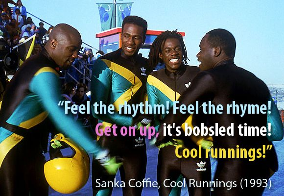 Cool Runnings makes me smile every time! One of my FAVORITE movies!
