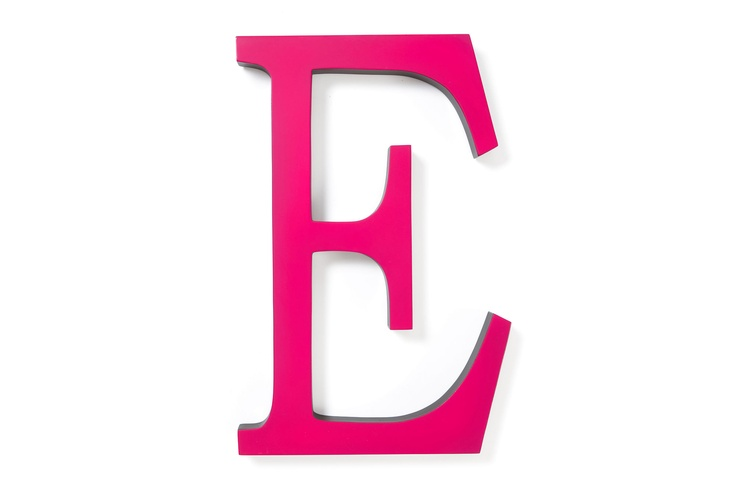 16quot pink wall letter e my favorite letter pinterest for Large letter e for wall