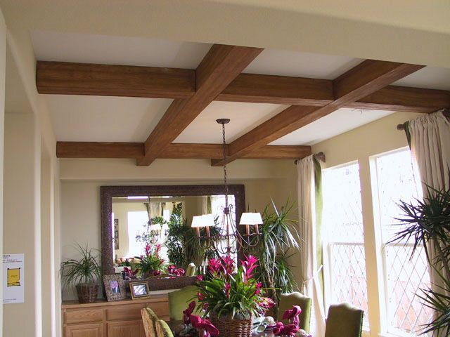 Foam faux wood ceiling beams for the home pinterest for Fake wood beams for ceiling