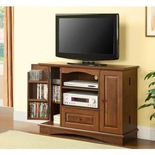 @Overstock - This sturdy wood TV console is an ideal piece for the bedroom. The internal media storage in this media stand holds 200 DVD or Blu-ray discs.http://www.overstock.com/Home-Garden/Brown-Media-Storage-Entertainment-Center/5473062/product.html?CID=214117 $216.05