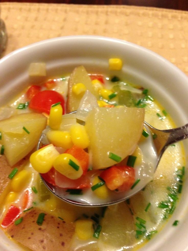 Spicy Corn Chowder. | Recipes I love | Pinterest