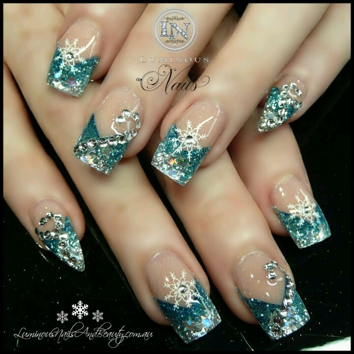 Great winter manicure. | Winter mani ideas | Pinterest