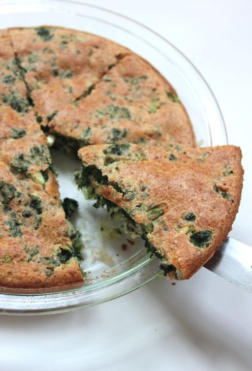 Crust-less Spinach & Feta Pie--a great side dish that works with any ...