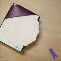 Doily Sticky Note | For when I'm feeling crafty.. | Pinterest