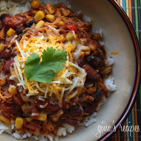 Crock Pot Chicken Taco Chili - This looks really good and doesn't have ...