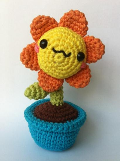 Amigurumi Flower : Flor amigurumi flower power pinterest