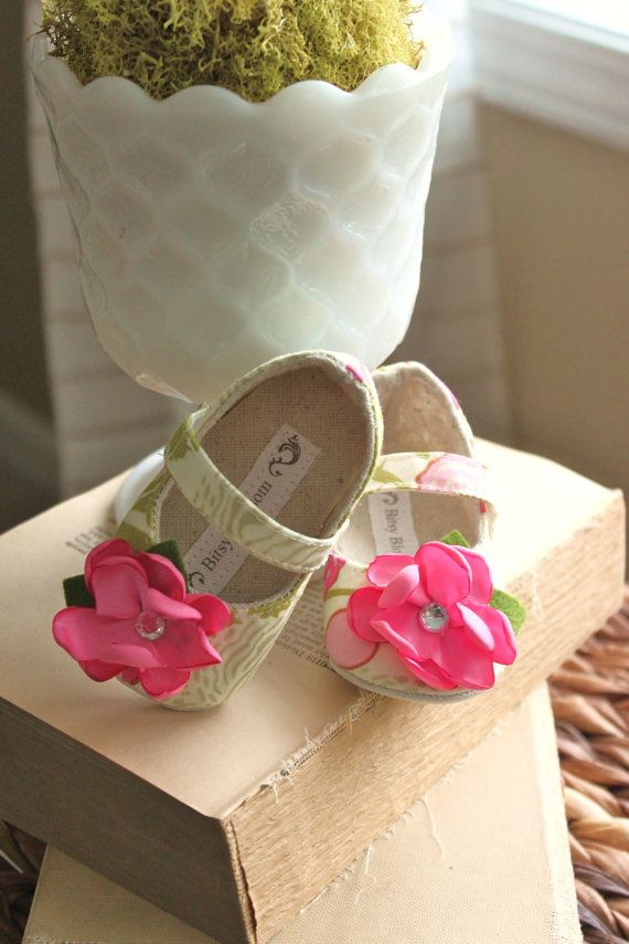Floral Fun-soft soled baby shoes
