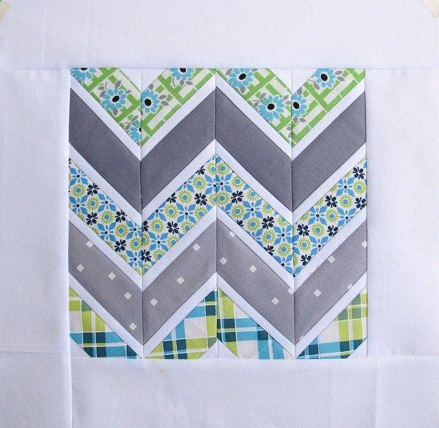 zig zag quilt block Arts & Crafts Pinterest