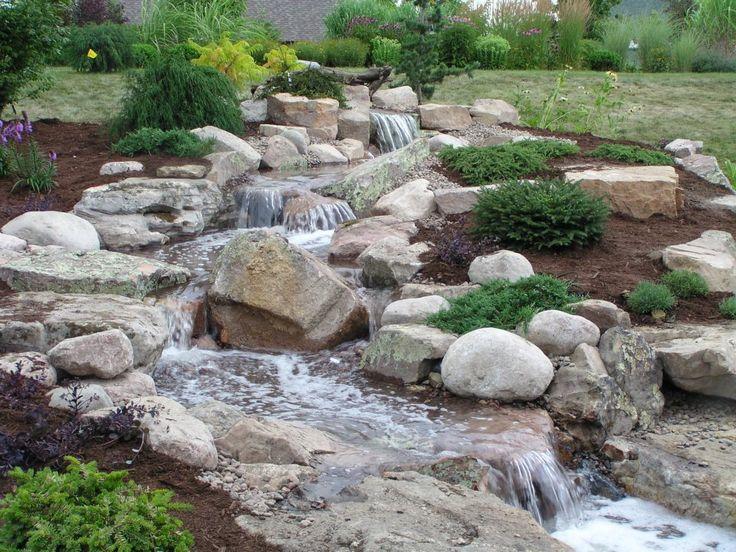 backyard stream garden pinterest
