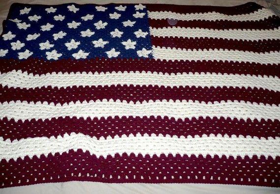 Crochet American Flag Scarf Pattern : crochet Crochet American..The Red,White,Blue Pinterest