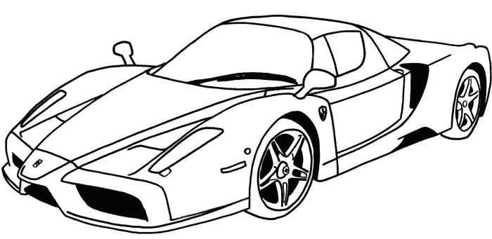 Ferrari Sport Car Coloring Page | Ferrari | Pinterest