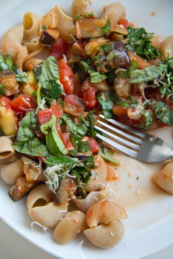 Eggplant and Zucchini Tomato Pasta | Pasta. | Pinterest