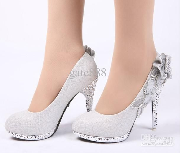 Unique Restricted Troya Silver Shoes For Women  Oeeme