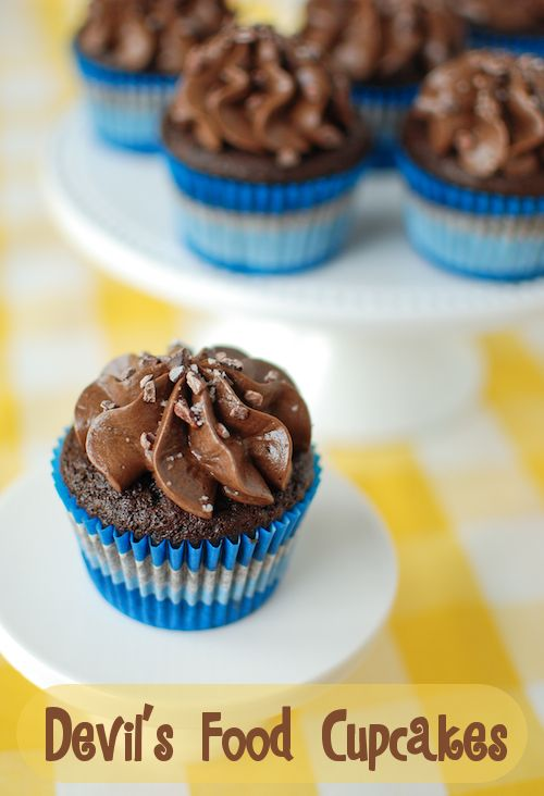Devil's food cupcake [this recipe yields only 6 cupcakes! Perfect for ...