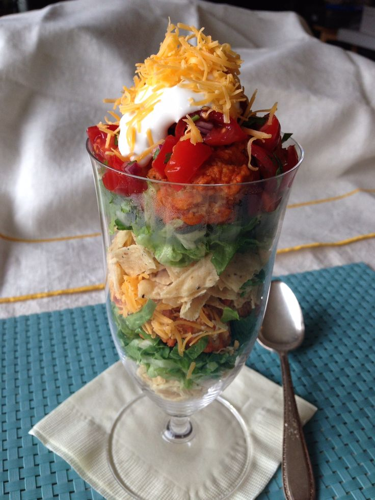 The big meal is almost here! So take it easy tonight and make something simple (but still super scrumptious). We vote for this no-mess Chicken Taco Parfait!