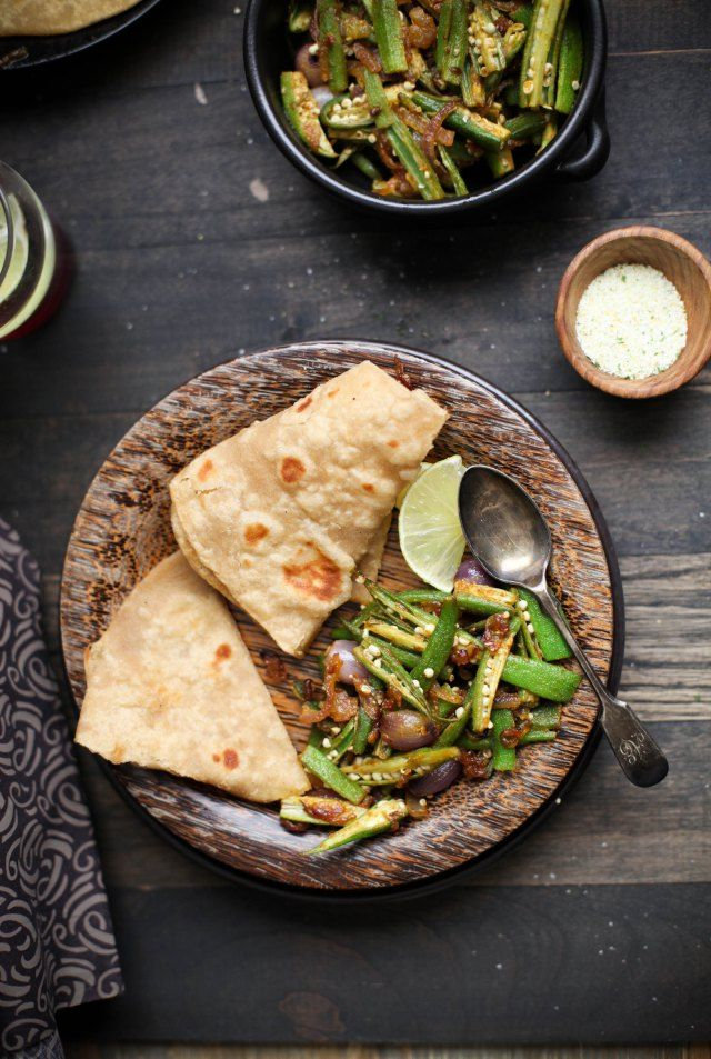 Sinfully Spicy - Bhindi Do Pyaza, Okra Stir fried With Onions