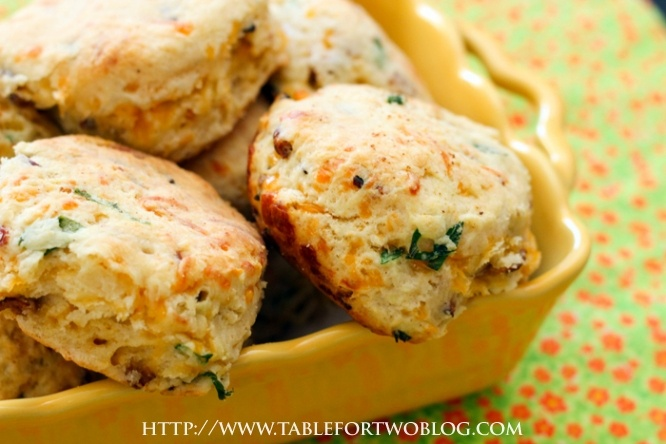 Cheddar Bacon Green Onion Biscuits   Recipe