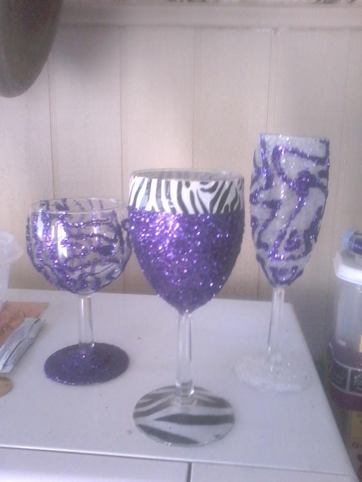 Diy wine glasses diy pinterest for Wine glass ideas