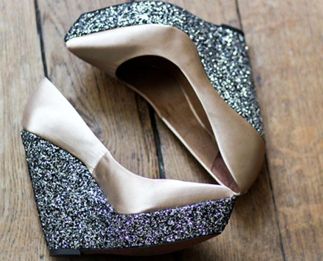 海外のDIY靴が可愛い♡グリッターシューズ