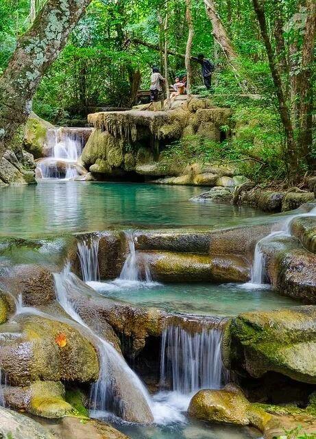 Thailand, Erawan Falls  Thailand  Pinterest