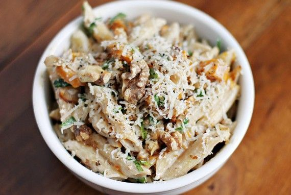Butternut Squash and Goat Cheese Pasta | Delicious Eats | Pinterest