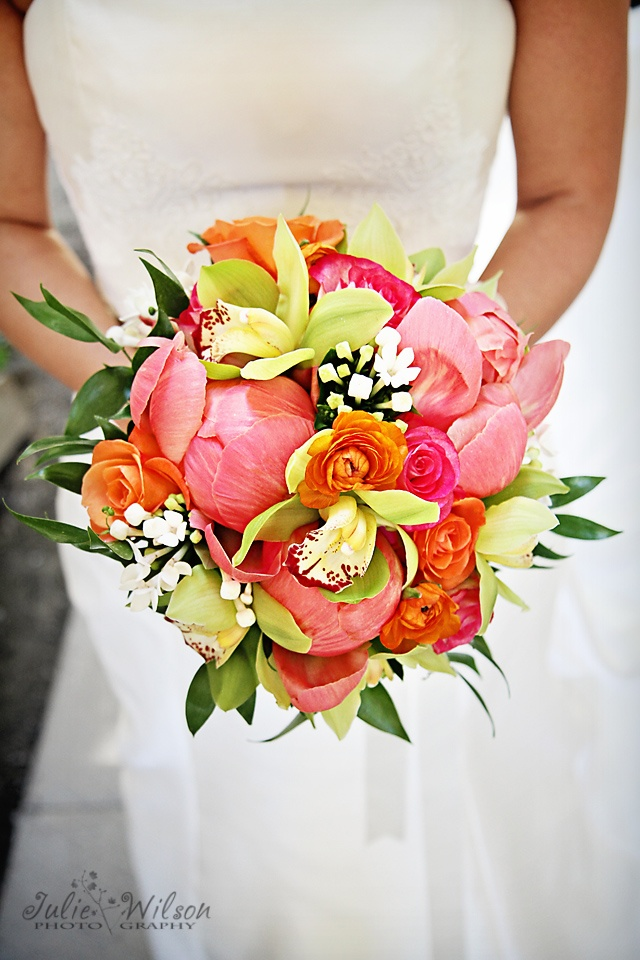 Awesome bridal bouquet bursting with color!