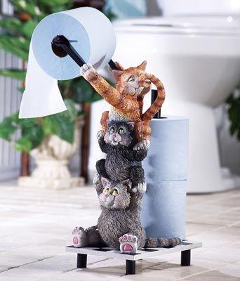 Climbing Cats Novelty Toilet Paper Holder