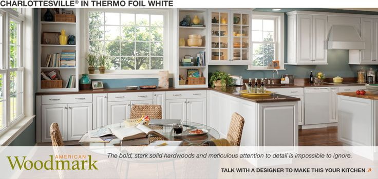 White Kitchen American Woodmark Our New House Pinterest