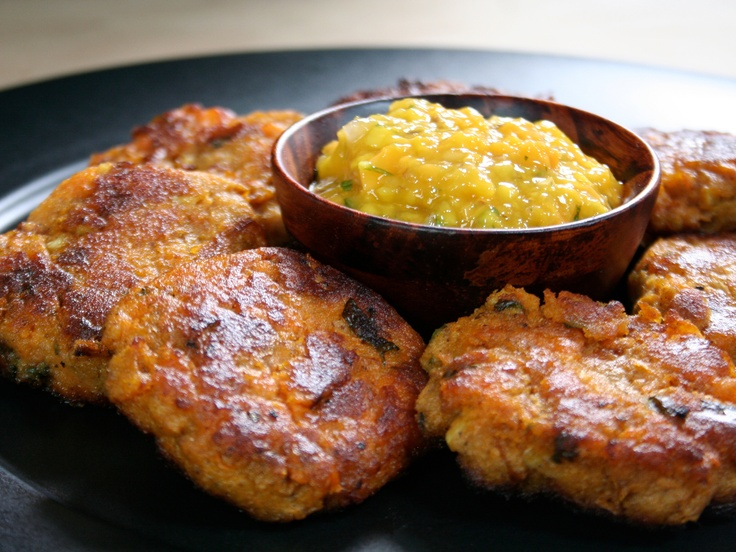 ... they look so good! Crispy Sweet Potato Cakes from CookingChannelTV.com