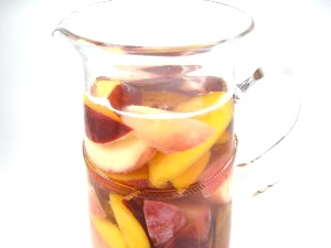 Sangria Blanca with Summertime Stone Fruits