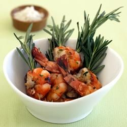 Grilled Rosemary Shrimp Skewers with Sea Salt Allrecipes.com