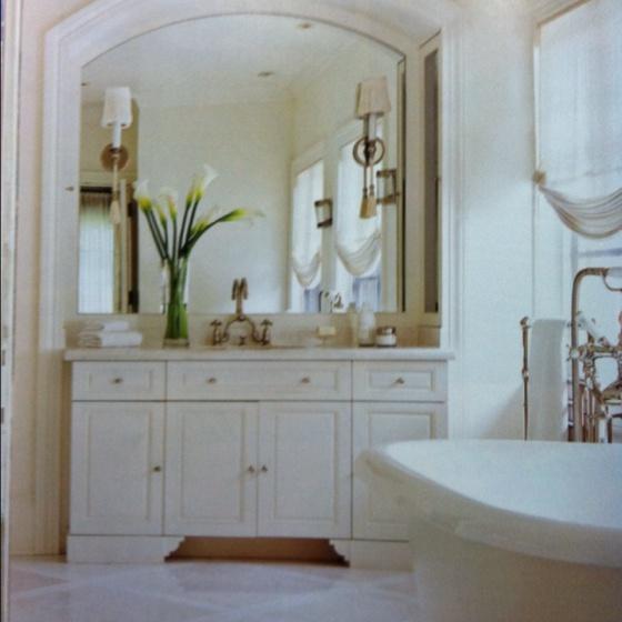 Sconces on mirror. | Bath | Pinterest