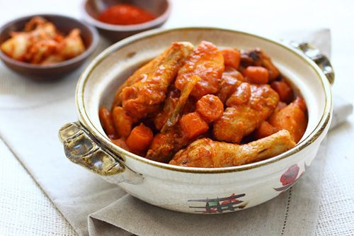 Korean Spicy Chicken Stew.