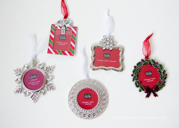 Christmas Tree Ornaments Picture Frames : Easy christmas crafts with ornament frames