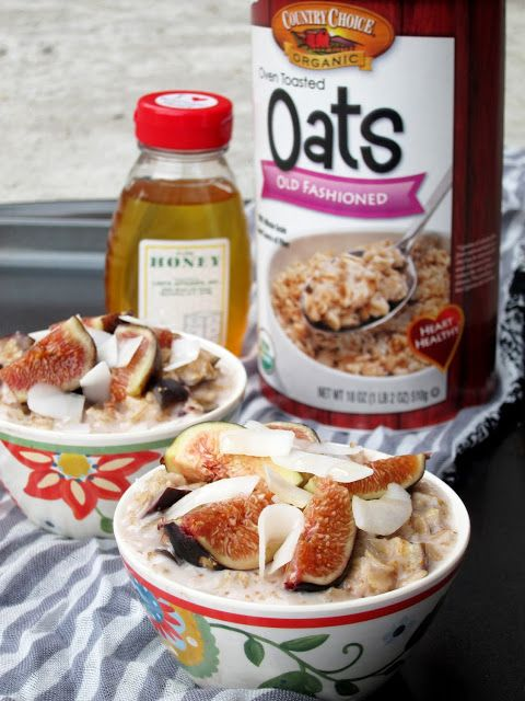 The Oatmeal Artist: Coconut, Honey, and Fig Oatmeal